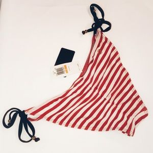 GUESS Cheeky Red Striped Bikini Bottom